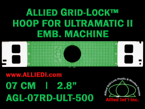 7 cm (2.8 inch) Round Allied Grid-Lock Plastic Embroidery Hoop - Ultramatic-II 500