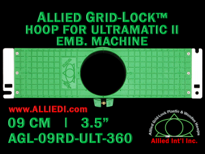 9 cm (3.5 inch) Round Allied Grid-Lock Plastic Embroidery Hoop - Ultramatic-II 360