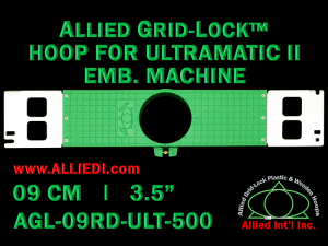 9 cm (3.5 inch) Round Allied Grid-Lock Plastic Embroidery Hoop - Ultramatic-II 500