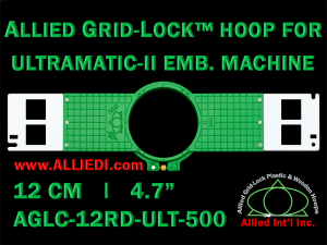 12 cm (4.7 inch) Round Allied Grid-Lock (New Design) Plastic Embroidery Hoop - Ultramatic-II 500