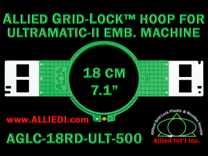 18 cm (7.1 inch) Round Allied Grid-Lock (New Design) Plastic Embroidery Hoop - Ultramatic-II 500