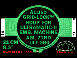 21 cm (8.3 inch) Round Allied Grid-Lock Plastic Embroidery Hoop - Ultramatic-II 360