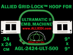 24 x 24 cm (9 x 9 inch) Square Allied Grid-Lock Plastic Embroidery Hoop - Ultramatic-II 500