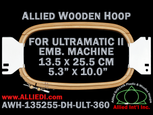 13.5 x 25.5 cm (5.3 x 10.0 inch) Rectangular Allied Wooden Embroidery Hoop, Double Height - Ultramatic-II 360