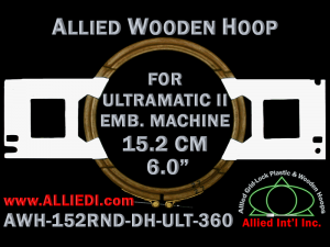 15.2 cm (6.0 inch) Round Allied Wooden Embroidery Hoop, Double Height - Ultramatic-II 360