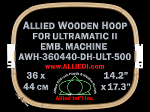 36.0 x 44.0 cm (14.2 x 17.3 inch) Rectangular Allied Wooden Embroidery Hoop, Double Height - Ultramatic-II 500