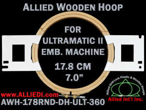 17.8 cm (7.0 inch) Round Allied Wooden Embroidery Hoop, Double Height - Ultramatic-II 360