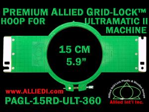 15 cm (5.9 inch) Round Premium Allied Grid-Lock Plastic Embroidery Hoop - Ultramatic-II 360