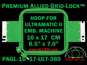 16 x 17 cm (6.5 x 7 inch) Rectangular Premium Allied Grid-Lock Plastic Embroidery Hoop - Ultramatic-II 360