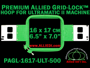 16 x 17 cm (6.5 x 7 inch) Rectangular Premium Allied Grid-Lock Plastic Embroidery Hoop - Ultramatic-II 500