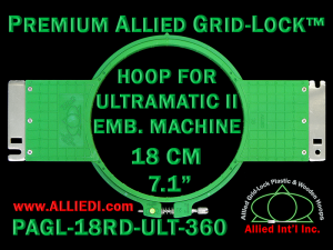 18 cm (7.1 inch) Round Premium Allied Grid-Lock Plastic Embroidery Hoop - Ultramatic-II 360