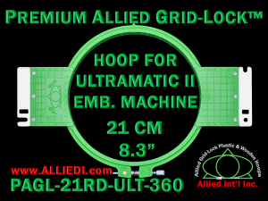 21 cm (8.3 inch) Round Premium Allied Grid-Lock Plastic Embroidery Hoop - Ultramatic-II 360