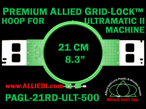 21 cm (8.3 inch) Round Premium Allied Grid-Lock Plastic Embroidery Hoop - Ultramatic-II 500