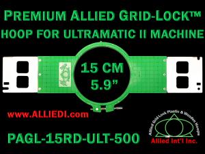 15 cm (5.9 inch) Round Allied Grid-Lock (New Design) Plastic Embroidery Hoop - Ultramatic-II 500