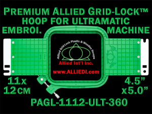 11 x 12 cm (4.5 x 5 inch) Rectangular Premium Allied Grid-Lock Plastic Embroidery Hoop - Ultramatic-II 360