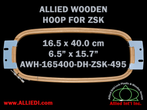 16.5 x 40.0 cm (6.5 x 15.7 inch) Rectangular Allied Wooden Embroidery Hoop, Double Height - ZSK 495
