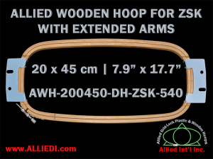 20.0 x 45.0 cm (7.9 x 17.7 inch) Rectangular Allied Wooden Embroidery Hoop, Double Height - ZSK 540