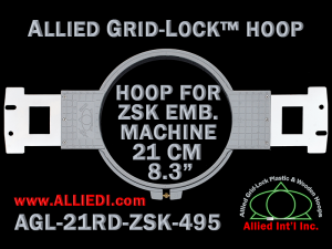 21 cm (8.3 inch) Round Allied Grid-Lock Plastic Embroidery Hoop - ZSK 495