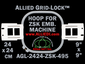 24 x 24 cm (9 x 9 inch) Square Allied Grid-Lock Plastic Embroidery Hoop - ZSK 495