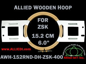 15.2 cm (6.0 inch) Round Allied Wooden Embroidery Hoop, Double Height - ZSK 400