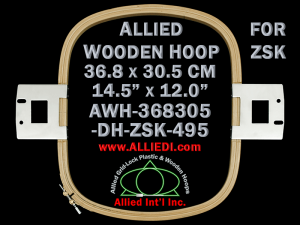 36.8 x 30.5 cm (14.5 x 12.0 inch) Rectangular Allied Wooden Embroidery Hoop, Double Height - ZSK 495