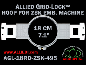 18 cm (7.1 inch) Round Allied Grid-Lock Plastic Embroidery Hoop - ZSK 495