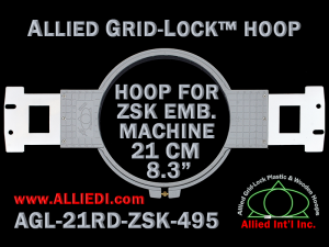21 cm (8.3 inch) Round Allied Grid-Lock Plastic Embroidery Hoop - ZSK 495