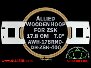 17.8 cm (7.0 inch) Round Allied Wooden Embroidery Hoop, Double Height - ZSK 400