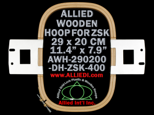 29.0 x 20.0 cm (11.4 x 7.9 inch) Rectangular Allied Wooden Embroidery Hoop, Double Height - ZSK 400
