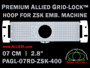 7 cm (2.8 inch) Round Premium Allied Grid-Lock Plastic Embroidery Hoop - ZSK 400