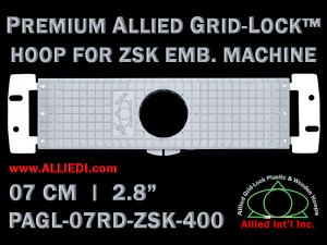 7 cm (2.8 inch) Round Premium Allied Grid-Lock Plastic Embroidery Hoop - ZSK 400