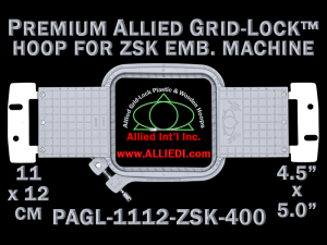 11 x 12 cm (4.5 x 5 inch) Rectangular Premium Allied Grid-Lock Plastic Embroidery Hoop - ZSK 400