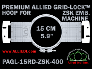 15 cm (5.9 inch) Round Premium Allied Grid-Lock Plastic Embroidery Hoop - ZSK 400