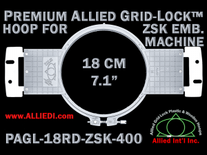 18 cm (7.1 inch) Round Premium Allied Grid-Lock Plastic Embroidery Hoop - ZSK 400