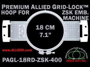 18 cm (7.1 inch) Round Premium Allied Grid-Lock Plastic Embroidery Hoop - ZSK 400