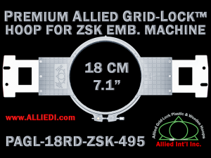 18 cm (7.1 inch) Round Premium Allied Grid-Lock Plastic Embroidery Hoop - ZSK 495