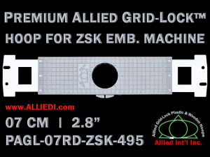 7 cm (2.8 inch) Round Premium Allied Grid-Lock Plastic Embroidery Hoop - ZSK 495