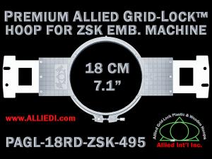 18 cm (7.1 inch) Round Premium Allied Grid-Lock Plastic Embroidery Hoop - ZSK 495