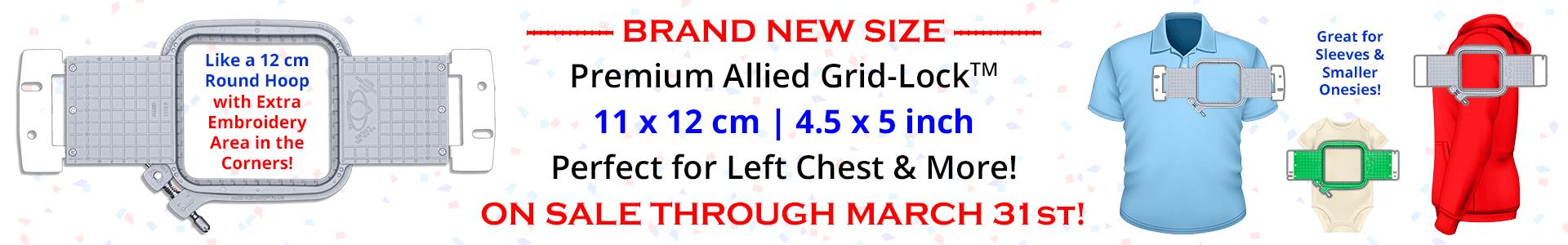 ON SALE - NEW Premium Allied Grid-Lock 11 x 12 cm (4.5 x 5 inch) Hoops!